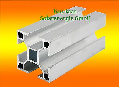 6m Aluprofil 40 x 40mm für Solar Photovoltaik Montage Alu Profil Schiene