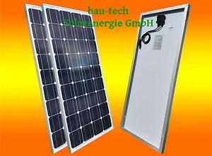2 x 100W Watt Solarmodul Solarpanel Solarzelle Monokristallin WOHNMOBIL CARAVAN