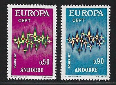 1972 Andorra (French) Scott #210-211 - EUROPA Set of 2 - MNH