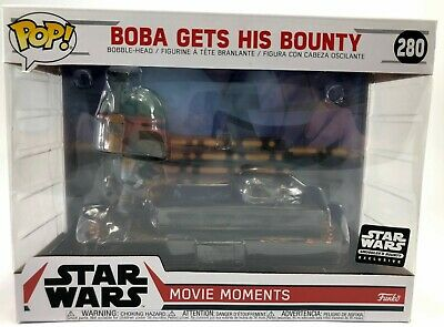 Star Wars Funko POP #280 Boba Gets His Bounty Movie Moment Smuggler's Exclusive