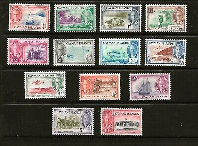 CAYMAN (Z591) 1950-SG135-47 PICTORIAL FULL SET OF 14 TO 10/- VERY FINE MM / MH