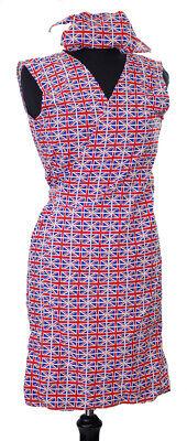 Royal Fancy Dress-Event-1940's Ladies UNION JACK wrap around pinny & headscarf - 1940 Fancy Dress Kostüm