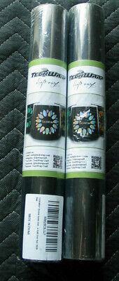 Lot 2 Teckwrap Chrome Space Gray Adhesive Craft Vinyl Roll 1ftx5ft46