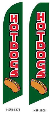 Hot Dog Flag Flutter Feather Flag Swooper Advertising Sign Bow Banner