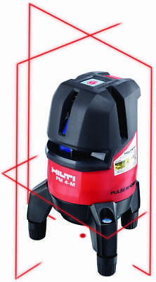 Hilti Pm 4m Multi Line Laser Kit - Self-leveling Red Laser Level - New 2088506