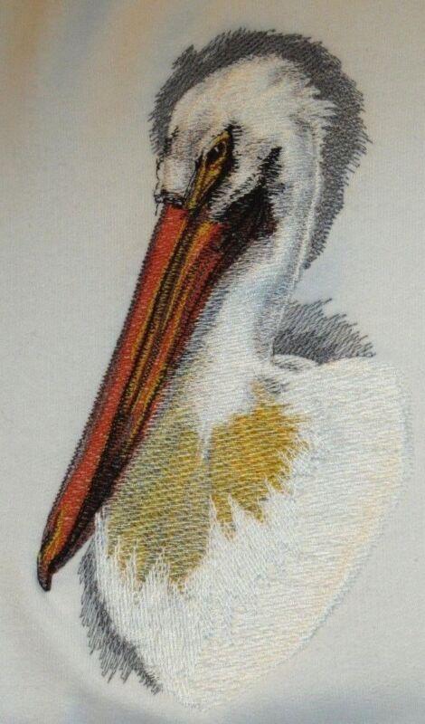 Embroidered Short-Sleeved T-Shirt - Pelican BT2876