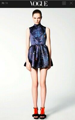 Christopher Kane Designer Galaxy Mini Dress 2011 Collection Size 2 Small