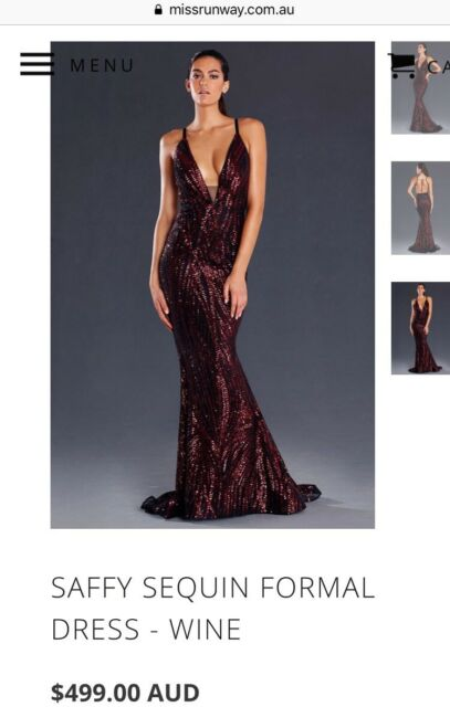 Backless Jadore size 8 black and red sequins ball gown  1e1f1c206