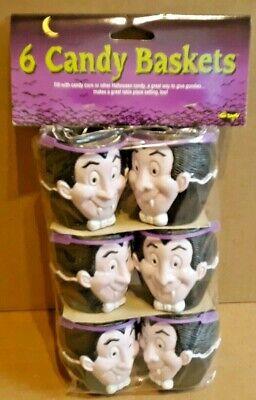 Halloween Candy Baskets (Vintage Fun World 6 Pack Halloween Vampire Candy)