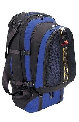 Travelpack Backpack Rucksack Blue/Black Detachable Daypack 1000D Cordura 80 Lt