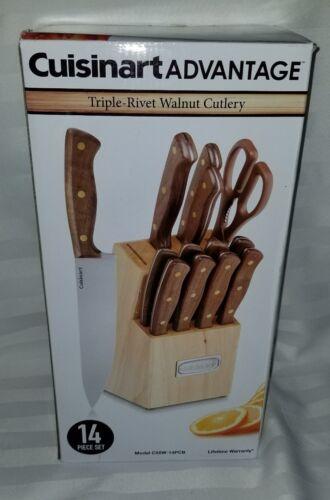 Cuisinart C55W-14PCB 14pc Triple Rivet Walnut Block Accs Cut
