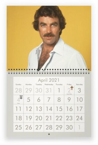 TOM SELLECK 2021 Wall Calendar