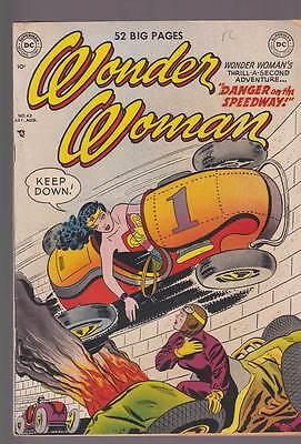 Wonder Woman # 42  Danger on the Speedway !  grade 4.0 scarce Golden Age book !
