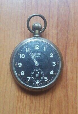 Vintage Ingersoll Crown Pocket Watch For Repairs
