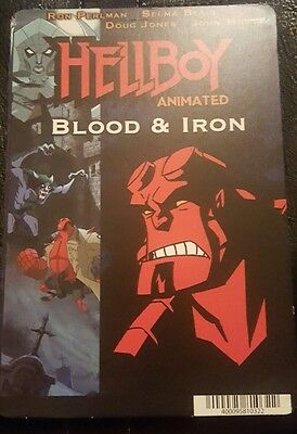 """HELLBOY ANIMATED: Blockbuster Movie Backer Mini Poster 8""""x5.5"""" not movie or dvd"""