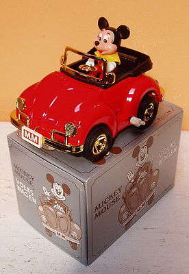 MASUDAYA TIN VW MICKEY MOUSE  RED VOLKSWAGON WIND UP VW 1983 VOLKS WAGEN