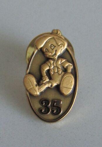 RARE DISNEY PINOCCHIO 35 YEAR CAST MEMBER SERVICE AWARD PIN RETIRED