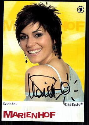 Katrin Ritt Marienhof Autogrammkarte Original Signiert ## BC 23405