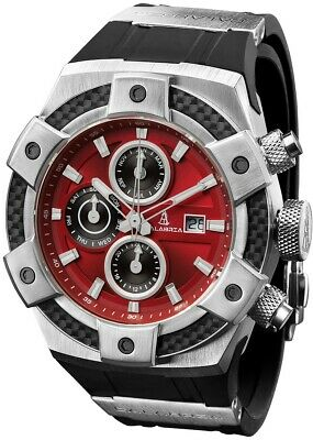 CALABRIA - ARMATO OPACO - Red Men's Watch with Carbon Fiber Bezel
