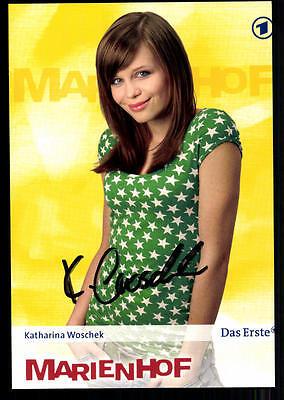 Katharina Woschek Marienhof Autogrammkarte Original Signiert ## BC 22569