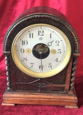Good Antique Oak Cased Bulle Electric Bracket Clock