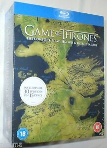 GAME OF THRONES COMPLETE SEASONS 1-3 Brand New BLU-RAY first second third HBO