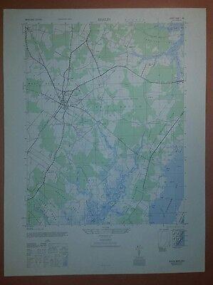 1940's Army (like USGS) topo map Berlin Maryland -5960 I SW  Assateague Island