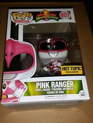 Funko Pop Metallic Pink Ranger Power Rangers hot topic exclusive ](Hot Pink Power Ranger)