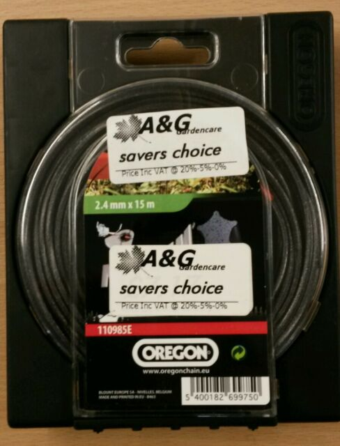 saverschoice OREGON 2,4 Nylium Starline 15M StrimmerCord 110985E 5400182699750*'