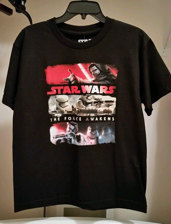 Star Wars the Force Awakens Big Boy's Black Graphic T-Shirt