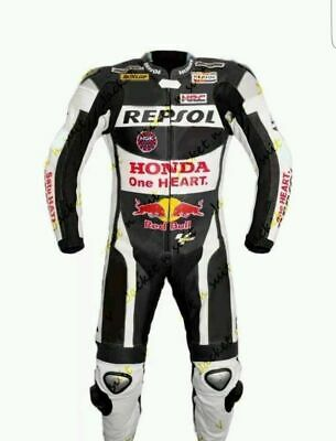 Men's Honda Replica Motorbike Leather suit for motorcycle ride race, tailor Made
