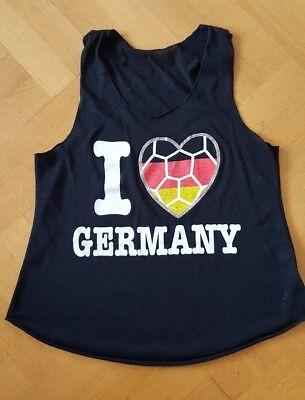 Gebraucht, Top ,Shirt ,Sport,  Fussball gr. M, I Love Germany gebraucht kaufen  Dillingen