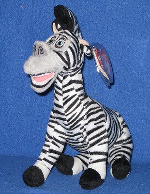 TY MARTY the ZEBRA BEANIE BABY (MADAGASCAR MOVIE) - MINT with MINT - Marty The Zebra