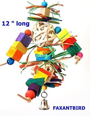 Parrot Bird Cage Toy Double Joy for mini macaw cockatoo african grey quaker