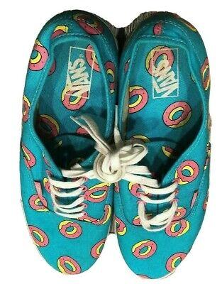 Vans Odd Future Authentic Scuba Blue Donut Shoes Golf Wang Mens Size 12