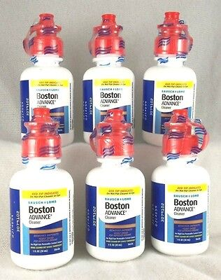 Bausch + Lomb Boston ADVANCE Cleaner dated 09/2020 ~ SIX (30 ml.) bottles ()