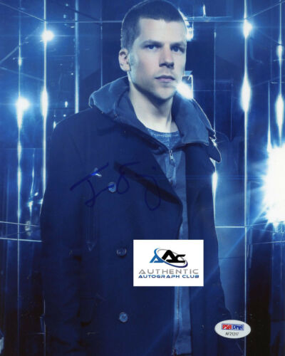 JESSE EISENBERG AUTOGRAPH SIGNED 8x10 PHOTO NOW YOU SEE ME PSA/DNA