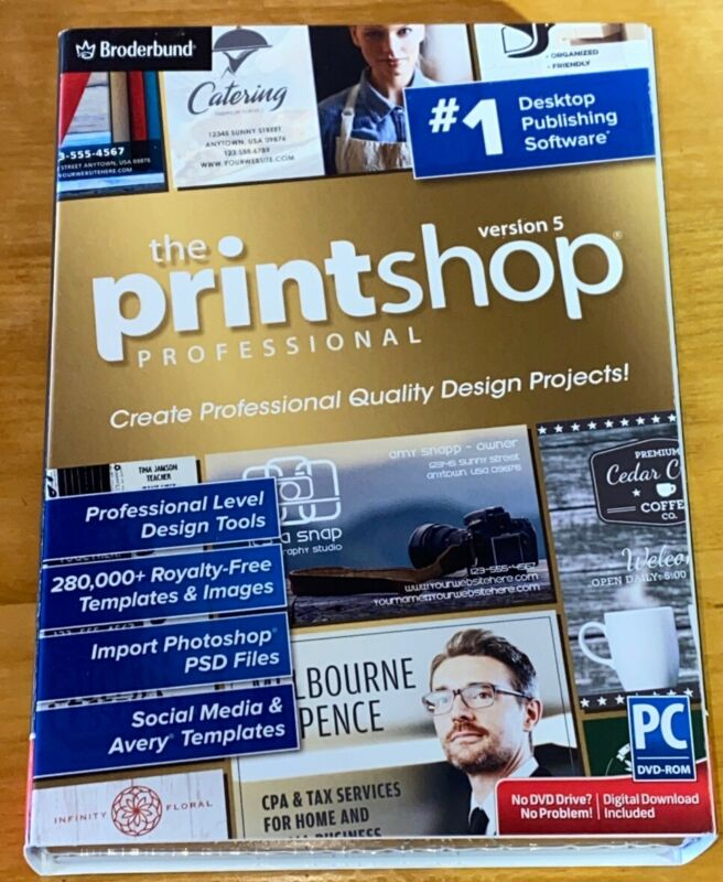 The Printshop Professional Version 5 Desktop Publishing PC Software - New in Box