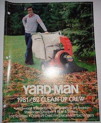 Yard Man 198182 Sweeper Vacuum Shredder Chipper Log Splitter Sales Brochure
