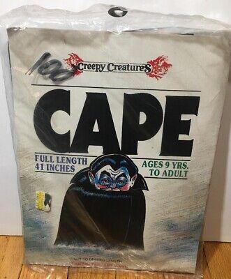 Creepy Vampire Costume (Creepy Creatures Halloween Red Vampire Costume Cape Adult Vinyl NEW)