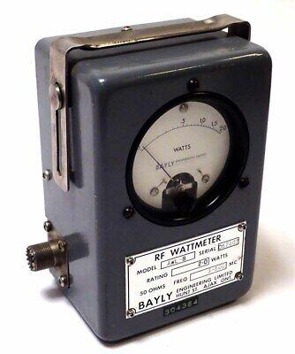Bayly Awl-8 Rf Wattmeter 2.0w 50 Ohms 3-500mhz Tested Working