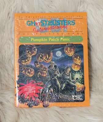 Pumpkin Patch Panic GBI Ghostbusters International Paperback 1990 ROLE PLAY  (Ghostbusters Pumpkin)