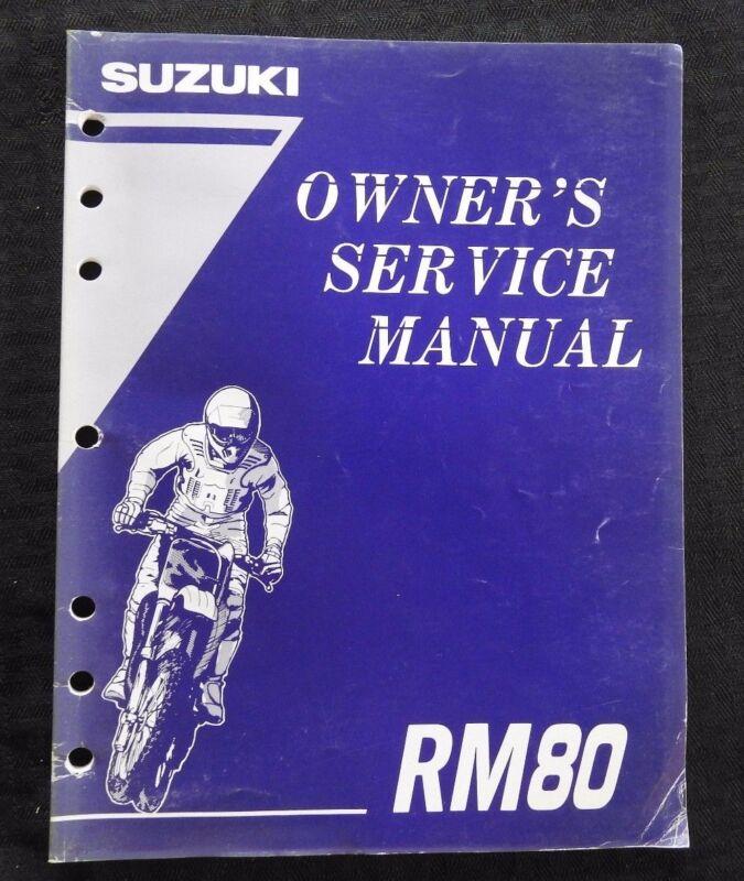 GENUINE 1995 1996 SUZUKI 80 RM80 MOTORCYCLE OWNER