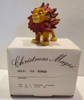 Vintage Disney Simba Lion King Grolier Christmas Magic Tree Ornament Cake Topper