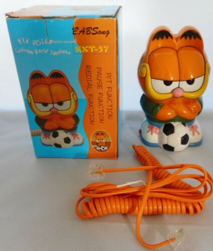 GARFIELD with Soccer Ball novelty telephone