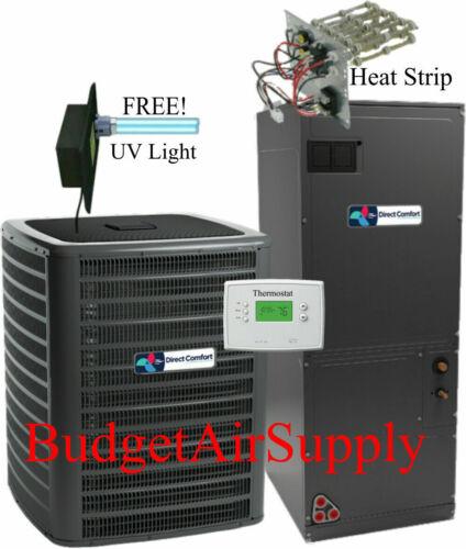 3 ton 14 SEER 410a A/C System DC-GSX140361+DC-ARUF37C14 FREE! HEAT STRIP & TSTAT