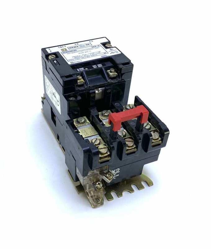 Square D 8536SA012S Size 00 Series B Motor Starter w/120 Vac Coil