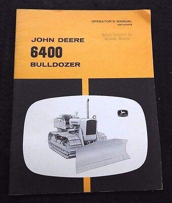 Genuine 1964 John Deere Jd450 Tractor 6400 Bulldozer Operators Manual Nice Shape