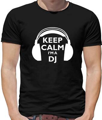 Djing Disc (Keep Calm I'm A DJ Mens T-Shirt - Djing - Mixing - Music - Disc Jockey )