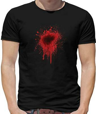 Blood Stain New Design Mens T-Shirt - Halloween - Costume - Gun Shot - Bullet